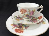 Crescent China tea trio - floral